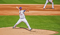 20 April 2013: New York Mets starting pitcher Jeremy Hefner on the mound against the Washington Nationals at Citi Field in Flushing, NY. The Mets fell to the visiting Nationals 7-6, tying their 3-game weekend series at one a piece. Mandatory Credit: Ed Wolfstein Photo *** RAW (NEF) Image File Available ***