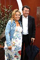 Christian Estrosi et sa femme Laura - Célébrités à Roland Garros - 6 juin 2017 - Paris, France
