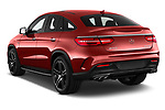 Car pictures of rear three quarter view of a 2019 Mercedes Benz GLE-Class Coupe GLE43 AMG 4MATIC 5 Door SUV angular rear