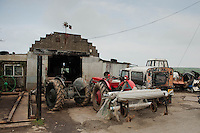 Wednesday 26 March 2014<br /> Pictured: View of outside Mr Ress' Garage<br /> Re: Robert Rees received two fines for his 70-year-old tractor from two London boroughs - even though it had never left his Pembrokeshire village