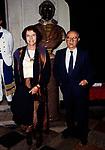 MARIA LUISA BEMBERG CON ALBERTO LATTUADA<br /> AMFAR FOUNDATION CHARITY GALA PALAZZO VOLPI VENEZIA 1993