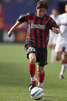 MetroStars' Joselito Vaca. D. C. United was defeated by the NY/NJ MetroStars 3 to 2 during the MetroStars home opener at Giant's Stadium, East Rutherford, NJ, on April 17, 2004.
