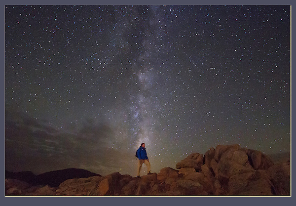 John and Milky Way during a lunar eclipse with the Flatirons Photo Club. I happen to be its president. It's a tough job to give away. <br />
