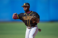 Bethune-Cookman Wildcats second baseman Jameel Edney (8) during practice before a game against the Wisconsin-Milwaukee Panthers on February 26, 2016 at Chain of Lakes Stadium in Winter Haven, Florida.  Wisconsin-Milwaukee defeated Bethune-Cookman 11-0.  (Mike Janes/Four Seam Images)
