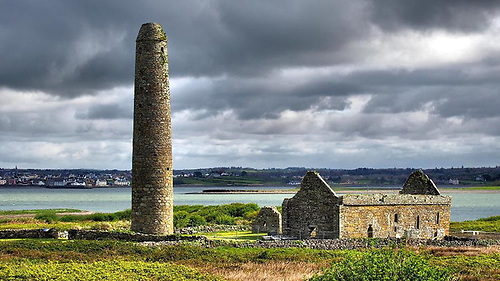 A sacred place – the Round Tower on Scattery Island off Kilrush in the Shannon Estuary