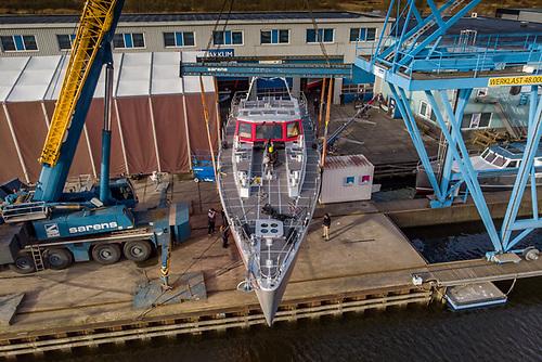 Pelagic 77 Vinson of Antarctica launched at KM Yachtbuilders