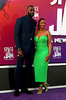 LOS ANGELES - JUL 12:  LeBron James, Savannah Brinson James at the Space Jam:  A New Legacy Premiere at the Microsoft Theater on July 12, 2021 in Los Angeles, CA