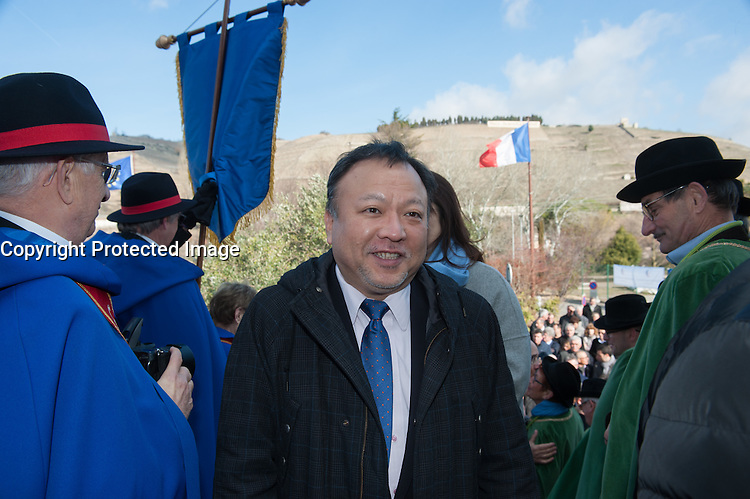 RYUICHIRO KOBAYASHI - INAUGURATION DU SALON DES VINS DE TAIN L'HERMITAGE
