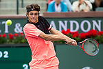 March 10, 2018: Taylor Fritz (USA) defeated Andrey Rublev (RUS) 6-4, 7-6 (4) at the BNP Paribas Open played at the Indian Wells Tennis Garden in Indian Wells, California. ©Mal Taam/TennisClix/CSM