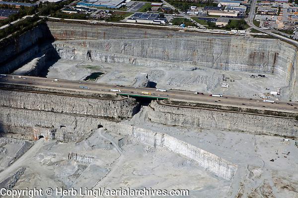 aerial photograph Thorton Quarry, Thorton, Illinois