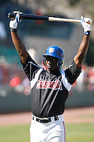 Trayvon Robinson  ---  At the annual California League-Carolina League all-star game at the Diamond in Lake Elsinore, CA - 06/23/2009. The game was won by the California League, 2-1, on a walk-off homerun by Lancaster's Jon Gaston..Photo by:  Bill Mitchell/Four Seam Images
