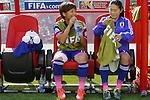 (L-R) Mana Iwabuchi, Homare Sawa (JPN), JULY 1, 2015 - Football / Soccer : FIFA Women's World Cup Canada 2015 Semir-final match between Japan 2-1 England at Commonwealth Stadium in Edmonton, Canada. (Photo by Yusuke Nakanishi/AFLO SPORT)