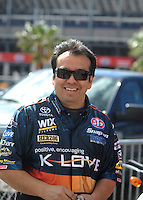 Apr. 1, 2012; Las Vegas, NV, USA: NHRA funny car driver Tony Pedregon during the Summitracing.com Nationals at The Strip in Las Vegas. Mandatory Credit: Mark J. Rebilas-