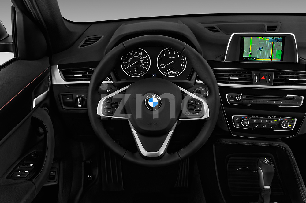 Car pictures of steering wheel view of a 2018 BMW X1 xDrive28i 5 Door SUV