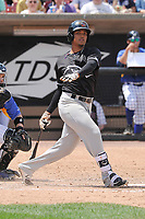 Quad Cities River Bandits third baseman Wander Franco (4) swings during a game against the Wisconsin Timber Rattlers at Fox Cities Stadium on June 27, 2017 in Appleton, Wisconsin.  Wisconsin lost 6-5.  (Dennis Hubbard/Four Seam Images)