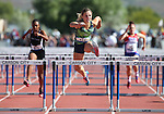 Green Valley's Charleen Jordan wins the 100-meter DI hurdles at the NIAA track and field finals at Carson High School in Carson City, Nev., on Saturday, May 21, 2016. Cathleen Allison/Las Vegas Review-Journal