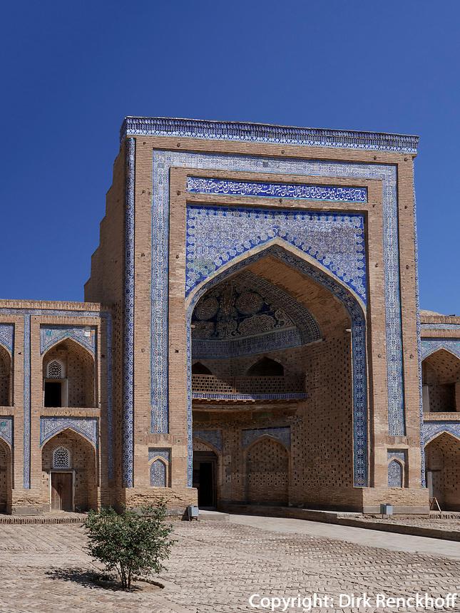 Muhammad Rahimhon Medrese, Xiva, Usbekistan, Asien, UNESCO-Weltkulturerbe<br /> Muhammad Rahimhon Madrasa, historic city Ichan Qala, Chiwa, Uzbekistan, Asia, UNESCO heritage site