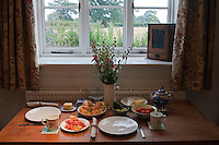 Hindolveston, Norfolk, England, 06/08/2009..The Old Chapel dining area.