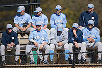 North Carolina Tar Heels pitchers gather in the bullpen at the 2008 Coca-Cola Classic at the Winthrop Ballpark in Rock Hill, SC, Sunday, March 2, 2008.