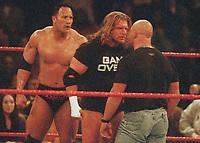 Triple H The Rock Stone Cold Steve Austin 1999                                                           Photo by  John Barrett/PHOTOlink
