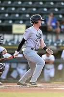 Jupiter Hammerheads third baseman Colin Moran (18) at bat during a game against the Bradenton Marauders on June 25, 2014 at McKechnie Field in Bradenton, Florida.  Bradenton defeated Jupiter 11-0.  (Mike Janes/Four Seam Images)