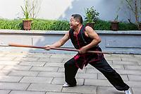 Wenzhou, Zhejiang, China.  Demonstration at the Martial Arts Museum.