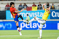 David Jimenez Silva of Spain competes for the ball with  Santiago Arias of Colombia during the friendly match between Spain and Colombia at Nueva Condomina Stadium in Murcia, jun 07, 2017. Spain. (ALTERPHOTOS/Rodrigo Jimenez) (NortePhoto.com) (NortePhoto.com)