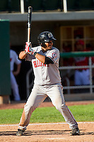 Fray Sosa (50) of the Billings Mustangs at bat against the Orem Owlz at Brent Brown Ballpark on July 22, 2012 in Orem, Utah.  The Mustangs defeated the Owlz 13-8.  (Brian Westerholt/Four Seam Images)