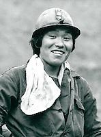 Kohle- Bergarbeiter in Taebaek, Korea 1986