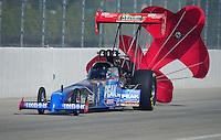 Nov. 13, 2011; Pomona, CA, USA; NHRA top fuel dragster driver T.J. Zizzo during the Auto Club Finals at Auto Club Raceway at Pomona. Mandatory Credit: Mark J. Rebilas-.