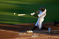 Bradenton Marauders Sammy Siani (25) bats during Game Two of the Low-A Southeast Championship Series against the Tampa Tarpons on September 22, 2021 at LECOM Park in Bradenton, Florida.  (Mike Janes/Four Seam Images)