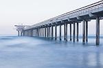 Scripps Pier, La Jolla, California; shot in early morning overcast light
