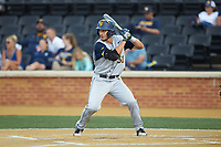 Darius Hill (31) of the West Virginia Mountaineers at bat against the Wake Forest Demon Deacons in Game Six of the Winston-Salem Regional in the 2017 College World Series at David F. Couch Ballpark on June 4, 2017 in Winston-Salem, North Carolina. The Demon Deacons defeated the Mountaineers 12-8. (Brian Westerholt/Four Seam Images)