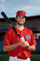 Clearwater Threshers Matt Vierling (28) poses for a photo before a Florida State League game against the Charlotte Stone Crabs on May 17, 2019 at Spectrum Field in Clearwater, Florida.  Charlotte defeated Clearwater 12-4.  (Mike Janes/Four Seam Images)