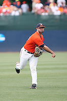 Franco Valdes of the Virginia Cavaliers playing in Game Two of the NCAA Super Regional tournament against the Oklahoma Sooners at Charlottesville, VA - 06/13/2010. Oklahoma defeated Virginia, 10-7, to tie the series after two games.  Photo By Bill Mitchell / Four Seam Images