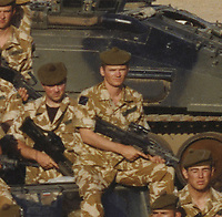 BNPS.co.uk (01202 558833)<br /> Pic: DNW/BNPS<br /> <br /> Pictured: Corporal Tony Currie<br /> <br /> A hero Iraq War veteran who led a full-frontal assault against 20 enemy gunmen has sold his bravery medals for £15,000.<br /> <br /> Corporal Tony Currie was part of a small force which came under heavy machine gun fire near the Al Uzayr security base in the Maysan Province in 2003. They were shot at from five different positions as they advanced through narrow streets.<br /> <br /> During the assault, an Iraqi gunman appeared suddenly in front of the British to stall the attack.