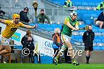 Padraig Boyle, Kerry in action against Matthew Donnelly, Antrim during the Joe McDonagh Cup Final match between Kerry and Antrim at Croke Park in Dublin.