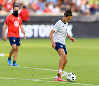 HOUSTON, TX - JUNE 10: Carli Lloyd #10 of the United States warms up before a game between Portugal and USWNT at BBVA Stadium on June 10, 2021 in Houston, Texas.