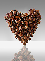 Coffee  beans in a heart shape, I love Coffee photo, picture & image
