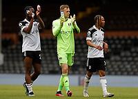 23rd May 2021; Craven Cottage, London, England; English Premier League Football, Fulham versus Newcastle United; Fulham Joshua Onomah and Goalkeeper Marek Rodak of Fulham applauding the Fulham fans alongside Bobby Decordova-Reid of Fulham