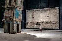 """Milano, spazio espositivo Hangar Bicocca. Installazione permanente """"I Sette Palazzi Celesti"""" di Anselm Kiefer, con 5 grandi dipinti inediti dell'artista tedesco in mostra --- Milan, exhibitions space HangarBicocca. Permanent installation """"The Seven Heavenly Palaces"""", by Anselm Kiefer, with five new large paintings of the german artist"""