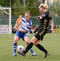 AA Gent - Telstar :<br /> <br /> duel tussen Pauline Windels (L) en Priscilla de Vos (R)<br /> <br /> foto Dirk Vuylsteke / Nikonpro.be