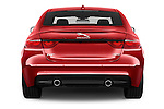 Straight rear view of 2017 Jaguar XF R-Sport 4 Door Sedan Rear View  stock images