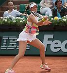 May 26,2016:   Louisa Chirico (USA) loses to Venus Williams (USA) 6-2, 6-1, at the Roland Garros being played at Stade Roland Garros in Paris, .  ©Leslie Billman/Tennisclix/CSM