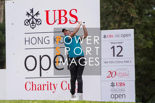 James Morrison of England tees off during the day three of UBS Hong Kong Open 2017 at the Hong Kong Golf Club on 25 November 2017, in Hong Kong, Hong Kong. Photo by Marcio Rodrigo Machado / Power Sport Images