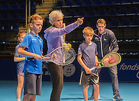 Rotterdam, Netherlands, December 16,  2016, Topsportcentrum,  Coaches Congress , Judy Murray gives a coaching session<br /> Photo: Tennisimages/Henk Koster
