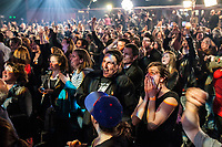 Quebec Solidaire gathering at Olympia theatre on election night, April 7, 2014 <br /> <br /> Photo : Agence Quebec Presse -  Jules Marchetti