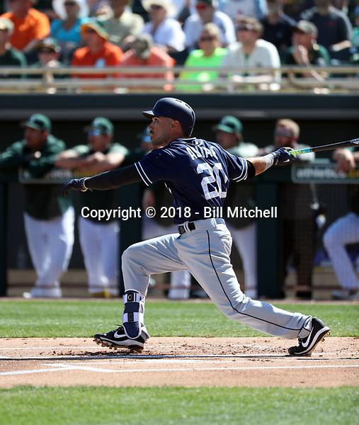 Carlos Asauje - San Diego Padres 2018 spring training (Bill Mitchell)