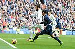 "Real Madrid's Nacho Fernandez and Malaga CF's Gonzalo ""Chory"" Castro during La Liga match between Real Madrid and Malaga CF at Santiago Bernabeu Stadium in Madrid, Spain. January 21, 2017. (ALTERPHOTOS/BorjaB.Hojas)"