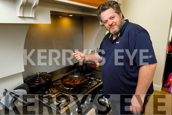 Croi Restaurant owner and Chef, Noel Keane at home cooking online